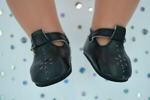 """Dolls Shoes For 17"""" Baby Born BLACK T-BAR SHOES"""