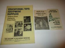 Novo Educational Toy and Equipment catalog - vintage school supplies Mor-Pla
