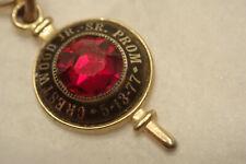 1977 Crestwood Jr Sr High School Prom Key Ring Fob Mountaintop PA Luzerne Co PA