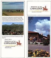 Rancho De Los Caballeros Wickenburg Arizona Vintage Brochure Color Photos