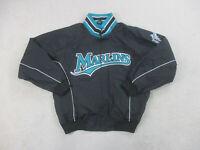 Majestic Florida Marlins Jacket Adult Extra Large Black Coat Baseball Men 90s*