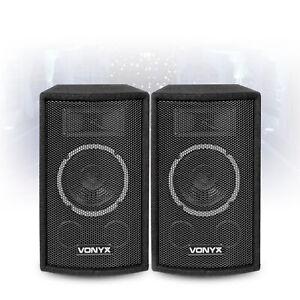 "Vonyx Compact Pair 6"" Inch Passive Speakers 2-Way Home DJ Bedroom Monitors 300W"