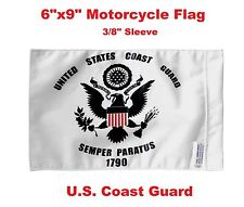 "Pro Pad Motorcycle Flag 6""x9"" U.S. Coast Guard Flag Fits 3/8"" Flag Poles"