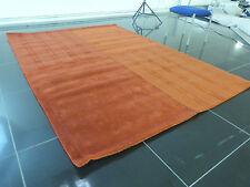 Large 240/170cm Red Handmade Wool Striped Rug Carpet Bedroom Kitchen Hallway Mat
