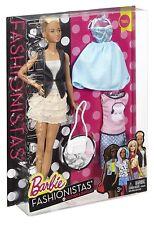 Barbie DTF07 fashioniste in pelle e balze doll