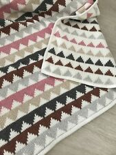 Next Baby Girl Multicoloured Double Layered Knitted Pink Blanket Wrap (b2)
