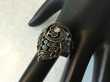 AUTHENTIC & SIGNED HEIDI DAUS (8) MULTI COLOR ANGEL WING DECO RING NO RESERVE