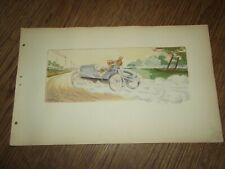 LITHOGRAPHIE ERNEST MONTAUT PANHARD ET LEVASSOR 1904.