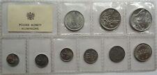 SET 1949 - 1976 Circulation Aluminum Coins Poland Polen 1 grosz - 5 zlotych