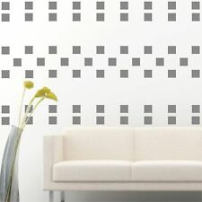 "105 of 3"" Silver Squares DIY Removable Peel & Stick Wall Vinyl Decal Sticker"