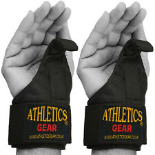 Power Weight Lifting Training Gym Straps Hook Bar Pull Up Wrist Support Glove KS