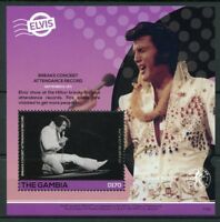 Gambia 2017 MNH Elvis Presley His Life in Stamps 1v S/S III Music Celebrities