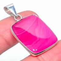 """Pink Lace Agate Gemstone Handmade Ethnic Gift Jewelry Pendant 1.58"""" VR-450"""
