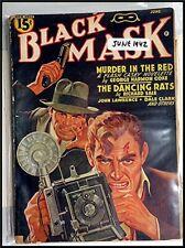 Pulp Magazine: BLACK MASK June 1942. Coxe, Richard Sale stories.