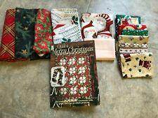 "SANTA'S NINE PATCH quilt kit, 46x68"", Christmas fabrics & pattern book"