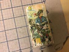 Original Wood & Paper Litho block - double sided - L & XYZ; EXIT ; LITTLE ?