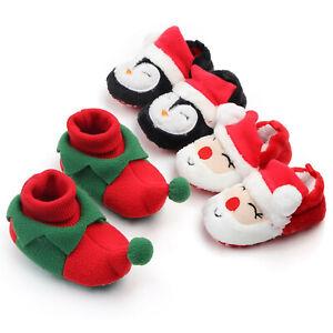 Christmas Newborn Baby Boys Girls Warm Shoes Infant Booties Fleece Winter Boots