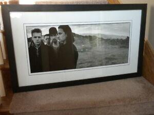 U2 The Joshua Tree Art Lithograph art by Anton Corbijn - framed
