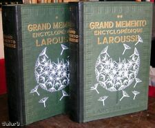 GRAND MÉMENTO ENCYCLOPÉDIQUE LAROUSSE 2 vol par Paul AUGÉ