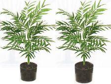 2 PALM 3' ARTIFICIAL SILK ARRANGEMENT TREE PLANT FLORAL POT BUSH FLOWER FLORAL