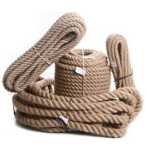 Juteseil Hanfseil Naturhanf Hanf Tau Handlauf Seil 6mm bis 60mm Tauseil Leine