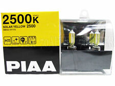 Piaa 2500K Solar Yellow H11 Halogen Headlight High Beam Bulbs (Made in Japan)