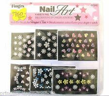 FING' RS NAIL ART varietà Pak-oltre 120 Stick On Decalcomanie per FINGERS & Toes 2346