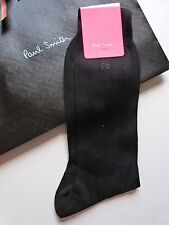 Paul Smith Calcetines Formal Negro Made in Italy 100% algodón Genuine!