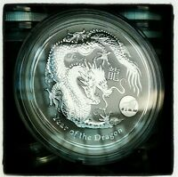 2012 1oz .999 Fine Silver Australian Lunar Year of the Dragon Lion Privy Coin