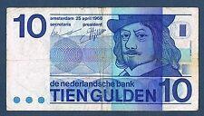 BILLET de BANQUE des PAYS-BAS.10 GULDEN Pick n° 91 du 25-4-1968 en TB 6294987810