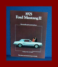 1975 Ford MUSTANG II Only Color Sales Catalog Brochure - FREE USA Shipping!