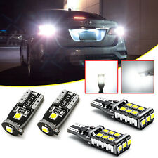 LED License Plate + Backup Reverse Lights For Nissan Altima Sentra Maxima Rogue