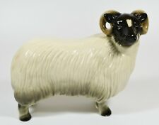 More details for large coopercraft ceramic black faced ram ~ finely modelled and large size