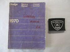 1970 DODGE CHARGER CORONET SERVICE SHOP REPAIR MANUAL