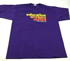 Vintage Seiu Union Chemise Taille 2XL XXL Violet Éducation Ouvriers United USA À