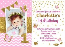 10 x Personalised 1st Birthday Children Invitations or Thank you cards