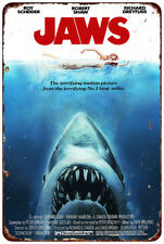 1975 Jaws movie Vintage Look reproduction metal sign 8 x 12