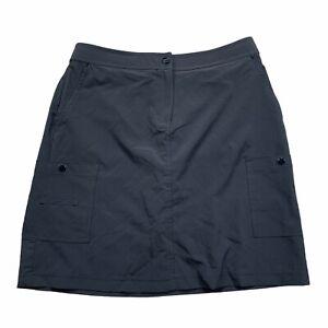 Zenergy By Chicos Athletic BLACK Skort Shorts Skirt Snap Pocket Golf SZ 0