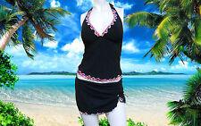 NWT GOTTEX PROFILE Watercolor HALTER Swimskirt Bathing Suit SWIMSUIT 2 pc - 8