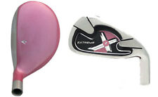 NEW 3-SW WOMENS HYBRID IRON COMBO PINK EXTREME X2 TAYLOR FIT STEEL GOLF SET