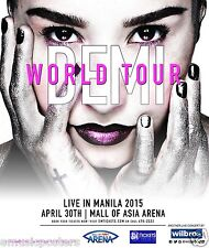 "DEMI LOVATO ""WORLD TOUR LIVE IN MANILA 2015"" PHILIPPINES CONCERT POSTER-Pop, R&B"