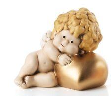Angelo Marcangelo Sdraiato Cuore Oro in Ceramica EGAN Made in Italy 10 x 9 cm