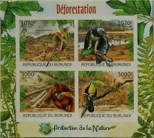 Deforestation Nature protection m/s Burundi Sc.1111 MNH #BUR12411a IMPERF