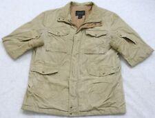 Express Beige Zip Front Corduroy Jacket Coat Men's Size Extra Large XL Man's Top