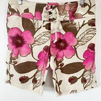 Old Navy Board Shorts Ultra Low Cotton Stretch Floral Hawaiian Surf Size S Small