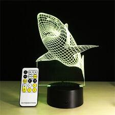 3D Lamp Shark Best Gifts for Kids Boyfriend Led Night light Furniture Decorative
