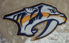 "Nashville Predators NHL White Logo 3.5"" Iron On Embroidered Patch ~USA Seller~"