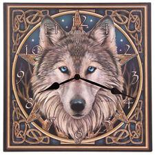 Wolf Design Wall Clock - Lisa Parker Celtic Wolf Clock - BNIB