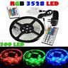10M 3528 5050 RGB 300 SMD Flexible LED Strip Light 44key Remote 12V Power Supply