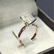 Fashion 925 Silver White Sapphire Ring Wedding Bridal Rose Filled Jewelry Sz6-10